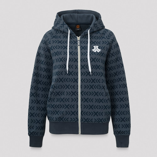 Defqon.1 boyfriend hooded zip navy/pattern