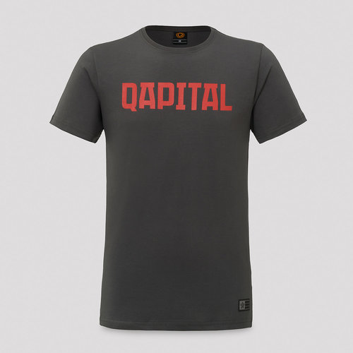 Qapital t-shirt antracite/red