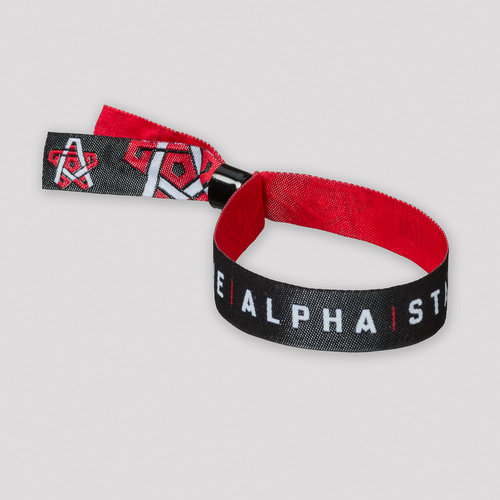 Qapital woven bracelet black/red