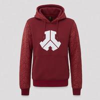 Defqon.1 burgundy pattern hoodie