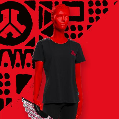 Defqon.1 t-shirt boyfriend black/tape