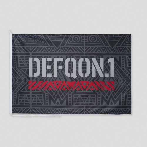 Defqon.1 flag black/red/white