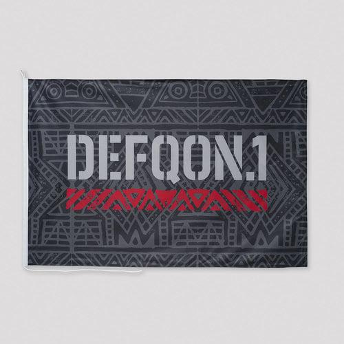 Defqon.1 flag black/red/white