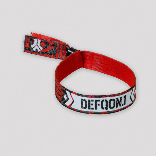 Defqon.1 Primal Energy woven bracelet black/red