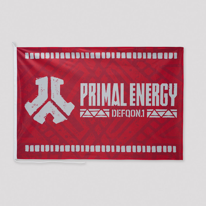 Defqon.1 Primal Energy flag red/white