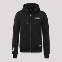 Q20YRS hooded zip black/white