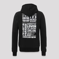 Q20YRS hooded zip black/white