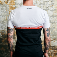 Defqon.1 t-shirt white/black tape