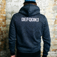 Defqon.1 hooded zip blue/pattern