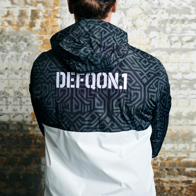 Defqon.1 windjacket black/white/pattern