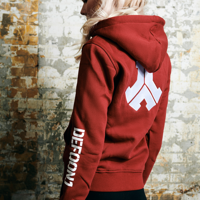 Defqon.1 boyfriend hooded zip red