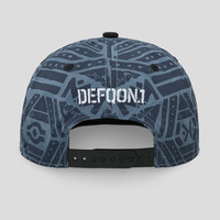 Defqon.1 snapback blue/pattern