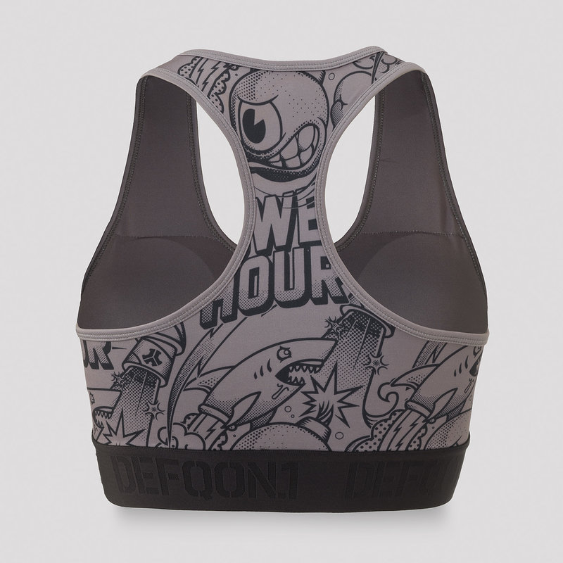 Defqon.1 Power Hour sport bra grey/artwork