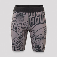 Defqon.1 Power Hour biker shorts women grey/artwork
