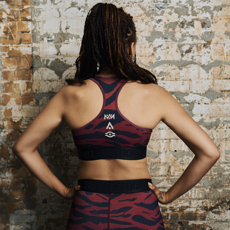 Defqon.1 zebra sport bra red/black
