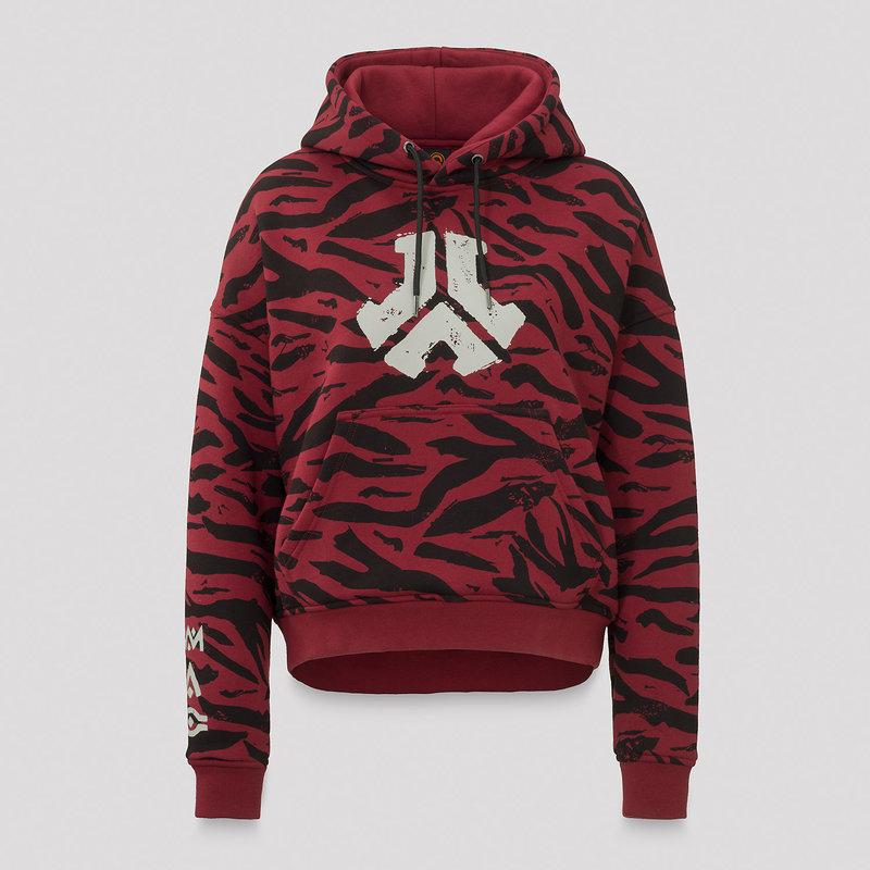Defqon.1 zebra boyfriend hoodie red/black