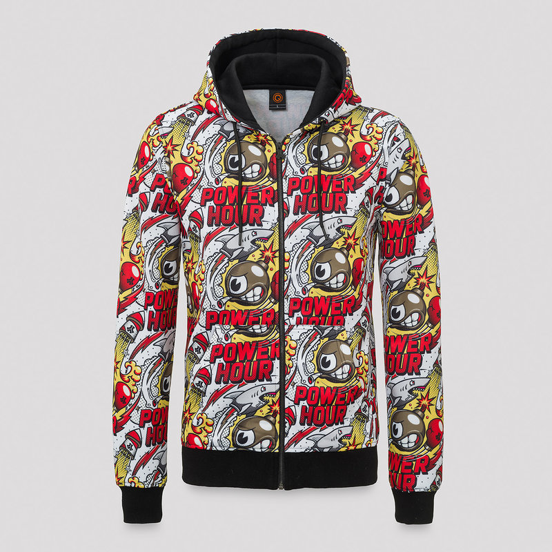 Defqon.1 Power Hour full color hooded zip