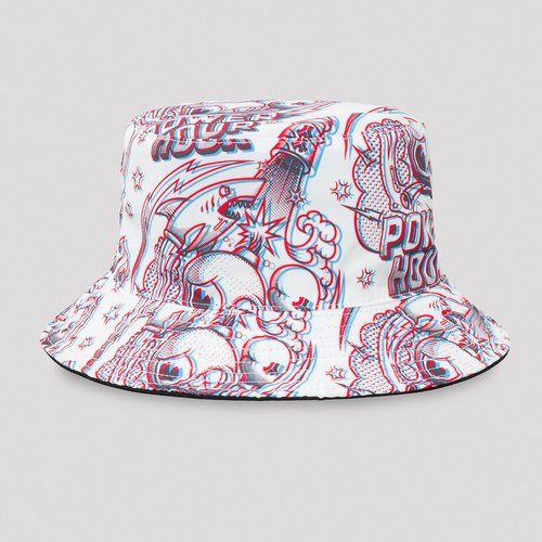 Defqon.1 Power Hour bucket hat white/artwork