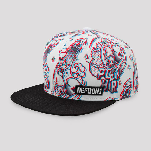 Defqon.1 Power Hour snapback white/artwork
