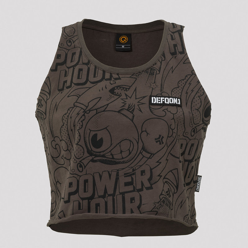 Defqon.1 Power hour short tee anthracite