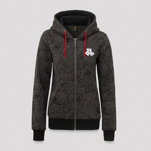 Defqon.1 Power Hour hooded zip grey/artwork