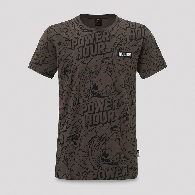 Defqon.1 Power hour t-shirt anthracite/print
