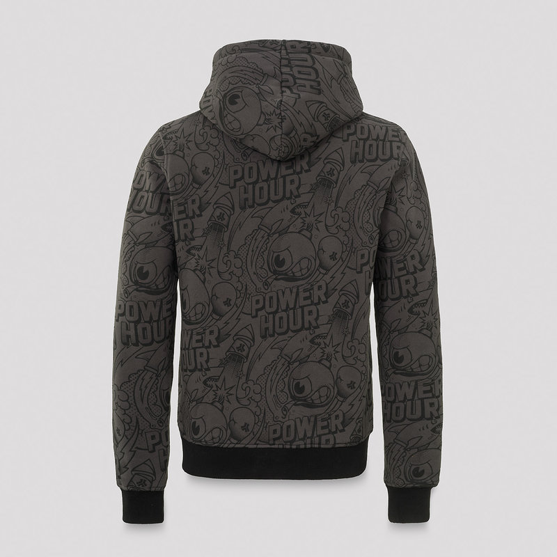 Defqon.1 Power Hour hoodie grey/artwork