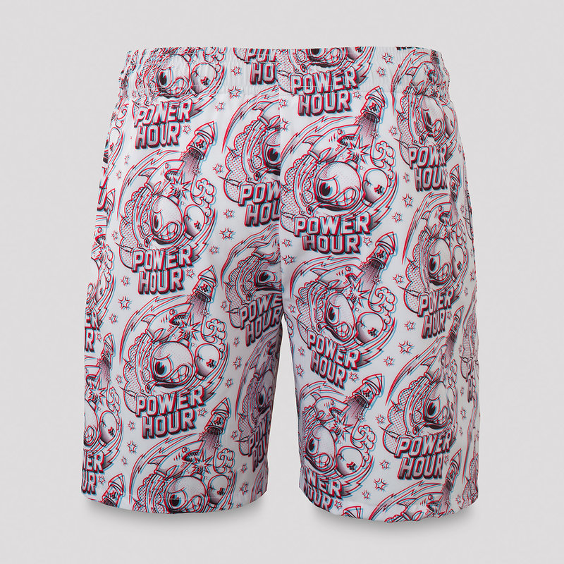 Defqon.1 Power Hour short white/pattern