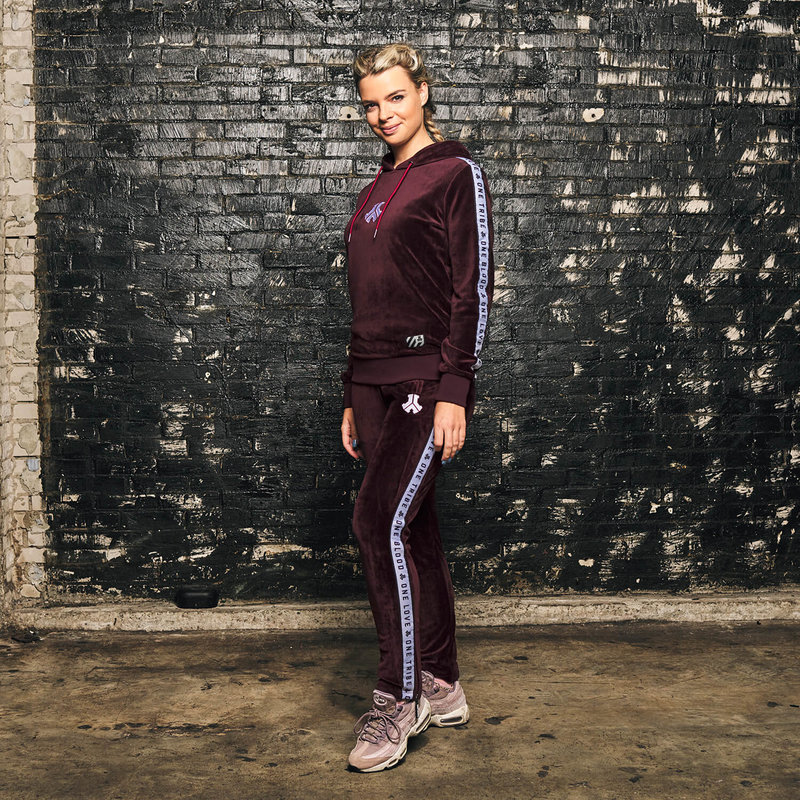 Defqon.1 track pants burgundy/velvet