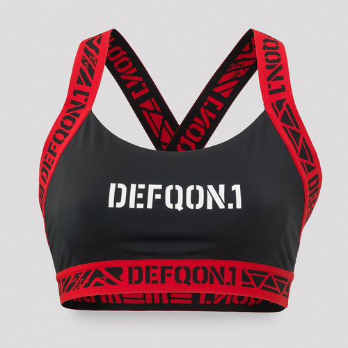 Defqon.1 Sport bra black/red tape