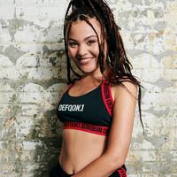 Defqon.1 Sport bra black/red tape
