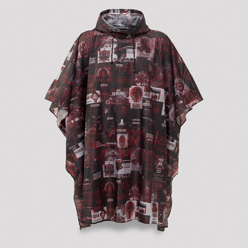 Q20YRS flyer print poncho