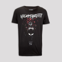 NIGHTBREED WOLF ATTACK T-SHIRT BLACK