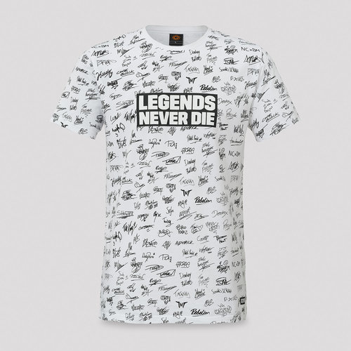 Q20YRS Legends t-shirt white