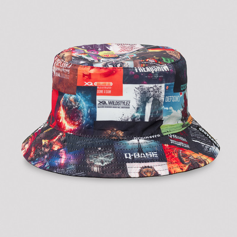 Q20YRS flyer print reversible bucket hat