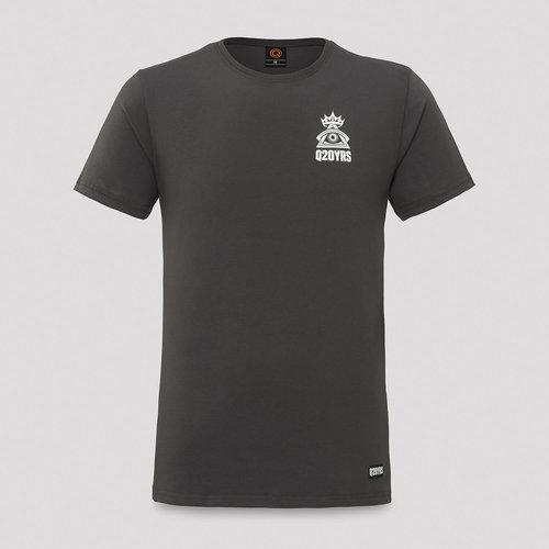 Q20YRS t-shirt anthracite/white