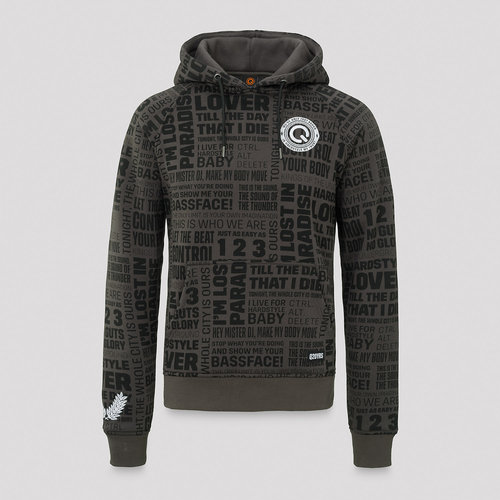 Q20YRS hoodie anthracite/black