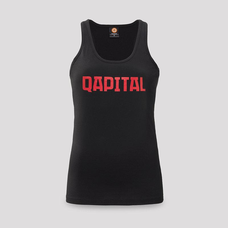 Qapital tanktop black/red