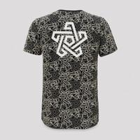 Qapital t-shirt grey/pattern