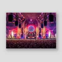 Qlimax Symphony of Shadows stage visual 70x50