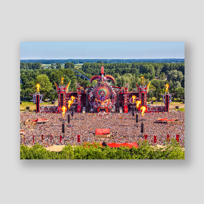 Defqon.1 red stage overview visual 70x50