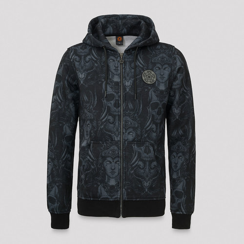 Qlimax hooded zip pattern/grey