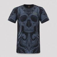 Qlimax t-shirt pattern/blue