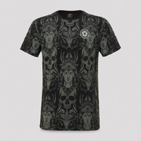 Qlimax t-shirt pattern/grey