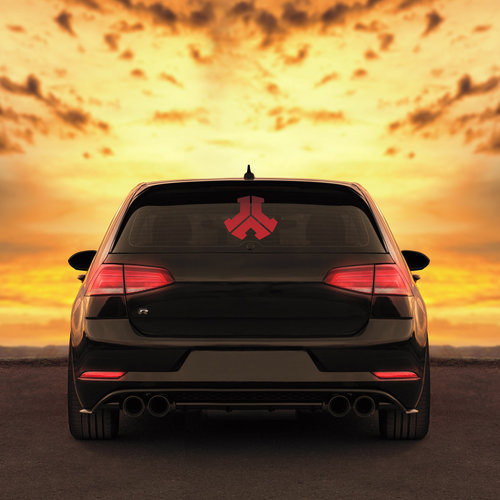Car sticker Defqon.1 red