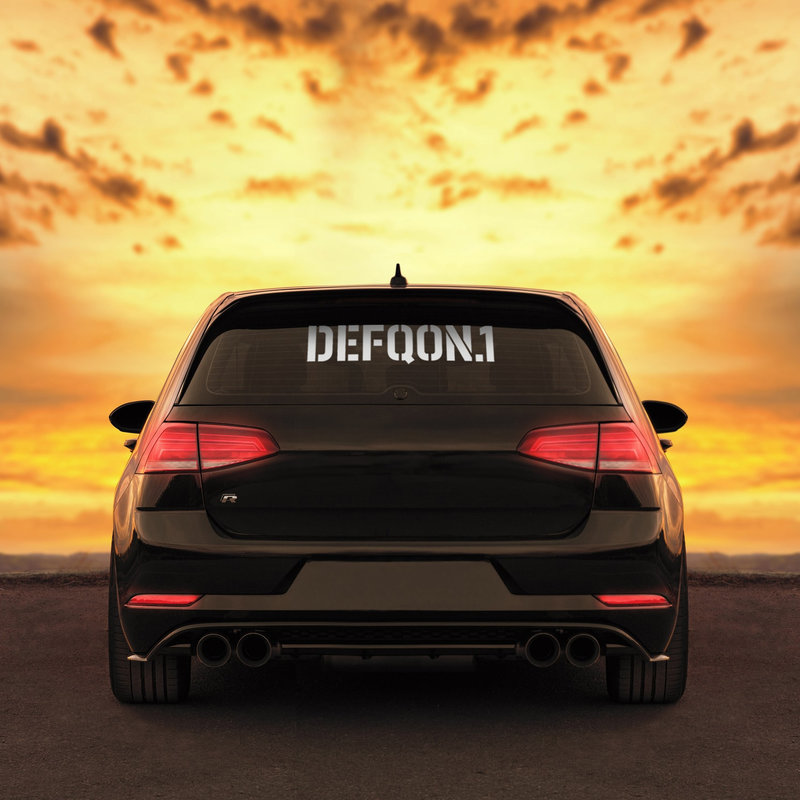 Car sticker Defqon.1 white