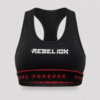 Rebelion sport bra black/red