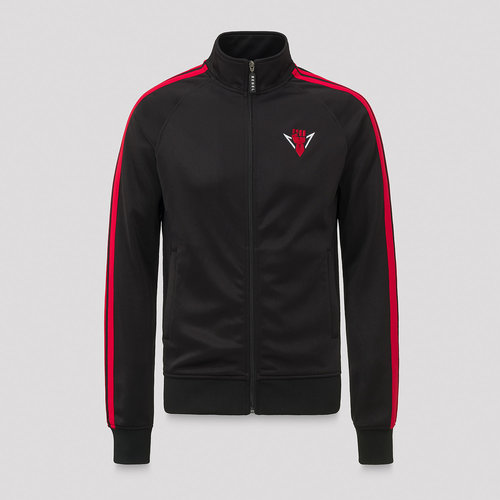 Rebelion track jacket black/red