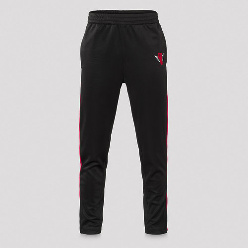 Rebelion track pants black/red