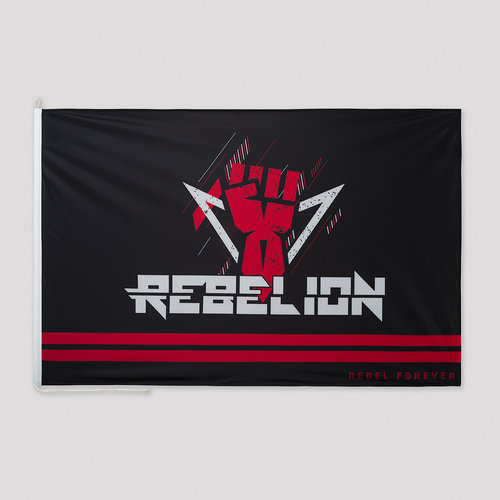 Rebelion flag black/red
